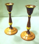 Ian Woodford, candlesticks, bubinga & box