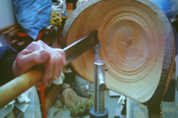 homemade steady rest woodturning