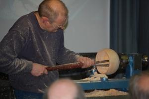 Steve hollowing bowl