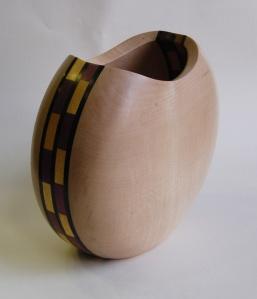 Phil Bristow, sycamore inlaid vase