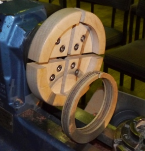 Jean's wooden chuck and offset insert