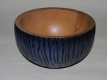 Graham Barnard oak bowl with colouring and texture