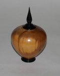 Harry Woolhead finial box, yew