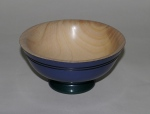John R Davis, coloured ash bowl