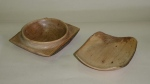 Derek Luke, dishes from scrap oak