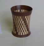 Bob Hope - segmented vase, walnut and sycamore