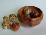 Richard Bray - bowl of fruit, yew and spalted beech