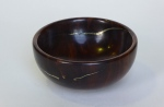Adrian Smith, lignum vitae bowl with gold inlay