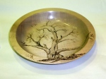 Harry Woollhead- pyrograhy on sycamore bowl