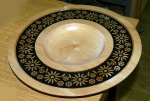 Jennie's platter with card inset