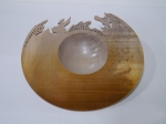 Paul Patterson Bowl stained carved andpierced