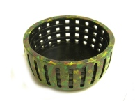 Keith Barnes perforated beech bowl