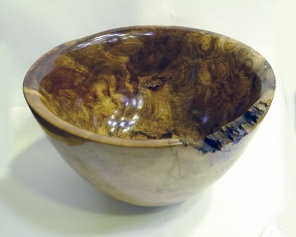 Mike Haselden Spalted beech bowl